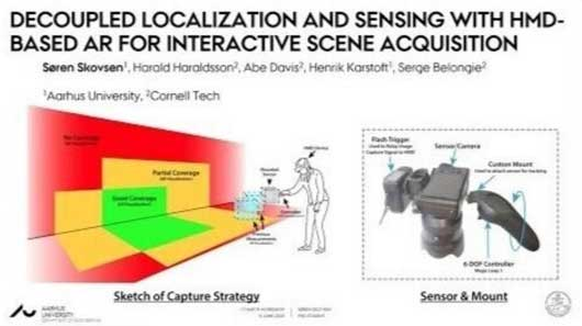 Decoupled Localization and Sensing with HMD-based AR for Interactive Scene Acquisition